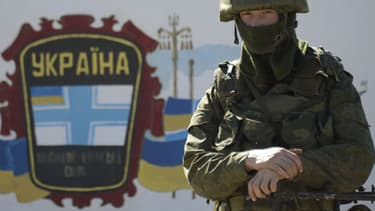 Un garde frontière ukrainien.