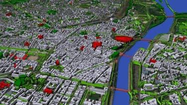 """Grâce à une modélisation numérique en 3D de la ville d'Angers, un """"jumeau numérique"""" servira d'outil d'aide à la décision pour gérer le territoire de la métropole 24H/24 7J/7 depuis un centre de supervision."""