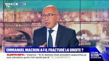 """Éric Ciotti: """"Si Emmanuel Macron veut faire battre Xavier Bertrand, c'est qu'il a peur de lui"""""""