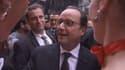 François Hollande a même croisé les danseuses du Moulin rouge sur Times Square, à New York.