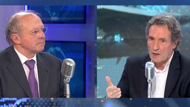 Jean-Paul Troadec (à gauche), ancien directeur du Bureau d'enquêtes et d'analyses, était mercredi matin l'invité de Jean-Jacques Bourdin sur BFMTV et RMC.