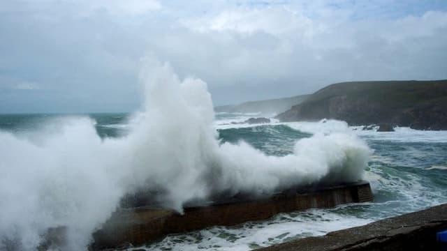 Des vents très violents coïncident avec une grande marée