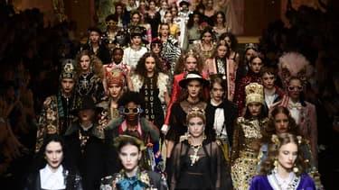Un défilé de la maison italienne Dolce & Gabbana