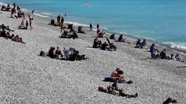 Une plage proche de la Promenade des anglais à Nice le 20 février 2021 (photo d'illustration)