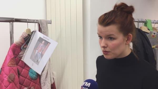 Liselore Frowijn lors de la Fashion Week de Paris