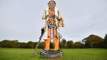L'effigie du producteur Harvey Weinstein à Edenbridge en Angleterre, le 1er novembre 2017