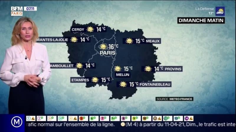 Météo: un temps calme ce dimanche matin, de possibles averses orageuses dans l'après-midi, jusqu'à 27°C à Melun