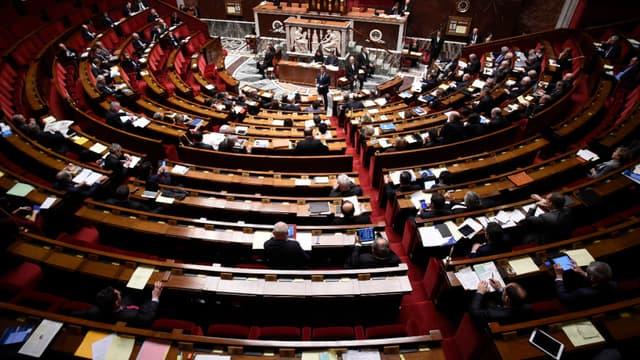 Dans l'hémicycle de l'Assemblée nationale, le 5 février 2016.