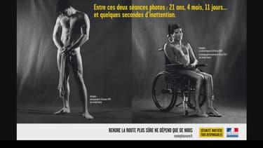 Rodolphe Barry pose nu pour la Sécurité routière.