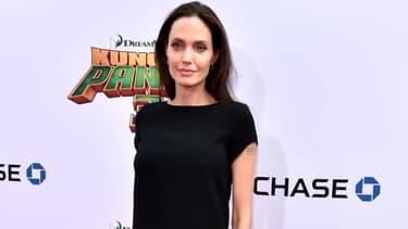 """Angelina Jolie lors de la première de """"Kung Fu Panda 3"""", à Hollywood, en 2016."""