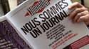 """La Une du journal """"Libération"""" du 8 février, après l'annonce des actionnaires du projet de transformer le journal en réseau social."""