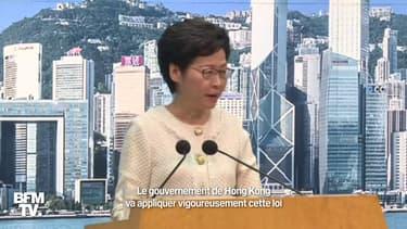 """Hong Kong: pour Carrie Lam, la loi sur la sécurité nationale """"n'est pas une catastrophe"""""""