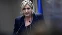 Marine Le Pen lors d'un discours à Paris le 9 décembre 2016.