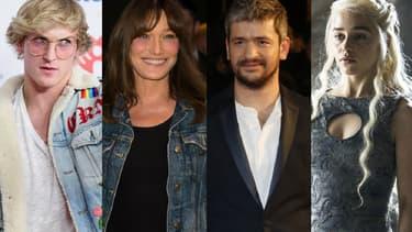 Logan Paul, Carla Bruni, Grégoire et Emilia Clarke au coeur de l'actualité cette semaine.