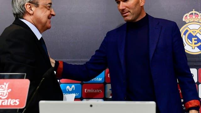 Florentino Pérez et Zinedine Zidane