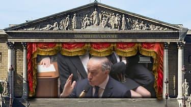 Laurent Fabius à l'Assemblée nationale mercredi 19 février 2014.