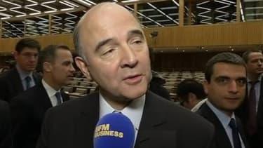 """Pierre Moscovici s'est réjoui que le partenariat entre GM et PSA soit """"renforcé""""."""