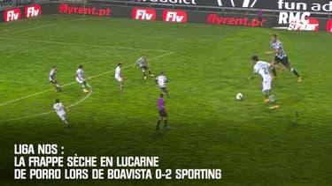 Liga Nos : La frappe sèche en lucarne de Porro lors de Boavista 0-2 Sporting