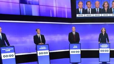 Plateau du dernier débat de la primaire à droite avant le premier tour, le 17 novembre 2016.