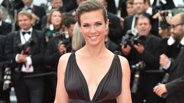 Lorie Pester sur le tapis rouge du Festival de Cannes en 2015