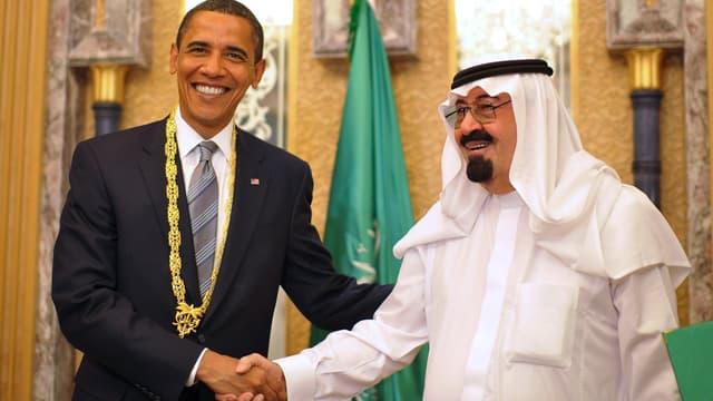 Barack Obama et le roi Abdallah ben Abdelaziz Al Saoud, le 3 juin 2009 à Riyad.