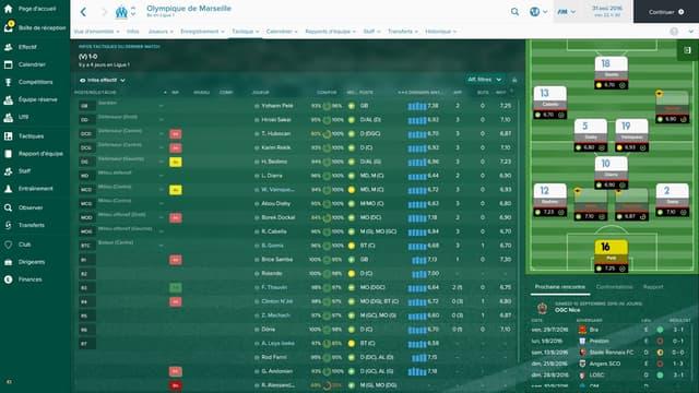 L'OM dans Football Manager