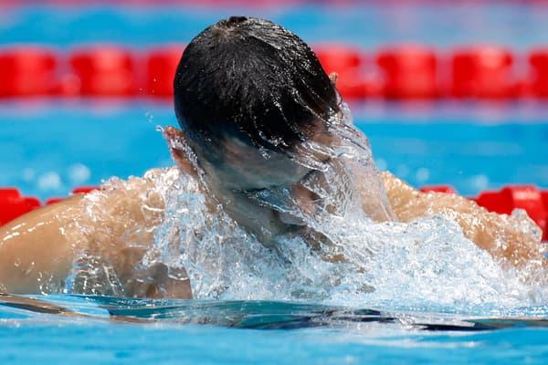 Florent Manaudou après sa demi-finale olympique à Tokyo en juillet 2021