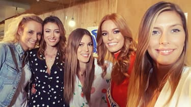 Elodie Gossuin, Rachel Legrain-Trapani, Iris Mittenaere, Maeva Coucke et Camille Cerf.
