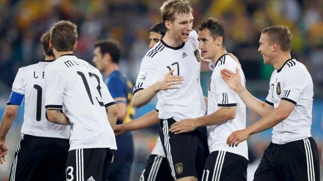 Thomas Mueller a inscrit deux buts pour les Allemands