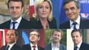 Sept candidats à l'élection présidentielle