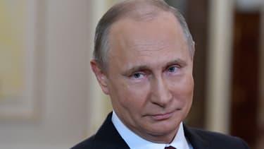 Le président russe Vladimir Poutine, le 8 mars 2018.