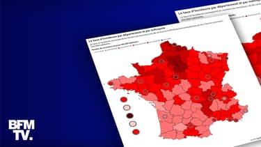 Le taux d'incidence en France selon les dernières données publiées le 18 mai 2021.