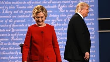 Hillary Clinton et Donald Trump lors de la présidentielle américaine de 2016.