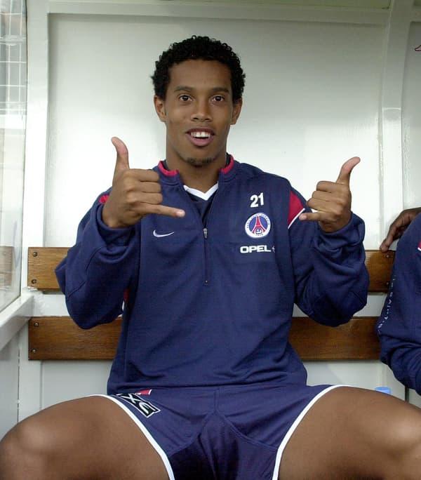 Ronaldinho à son arrivée au PSG.