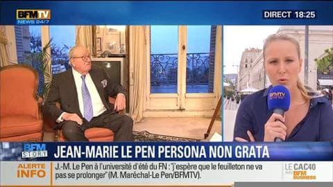 """Université d'été du FN: """"Il ne serait pas responsable de la part de Jean-Marie Le Pen de venir"""""""