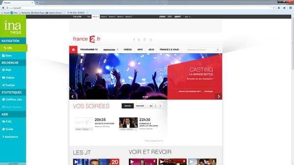Exemple de homepage collectée par l'INA.