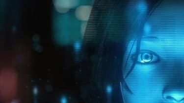 Le personnage Cortana du jeu Halo, qui a donné le nom et la personnalité au service d'assistance virtuelle de Microsoft