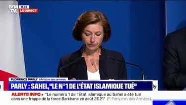 """Florence Parly: la mort du numéro 1 de l'État islamique au Sahel """"intervient après plus de 18 mois d'effort constant"""""""
