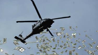 L'hélicoptère à billet qui doit sa parenté à Milton Friedman