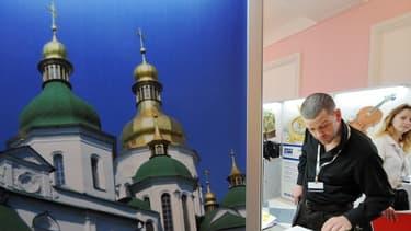 La Russie, un des premier bénéficiaire mondial des programmes de la Berd, est à l'honneur lors d'une exposition pour le congrès annuel de l'organisation à Kiev en 2008.
