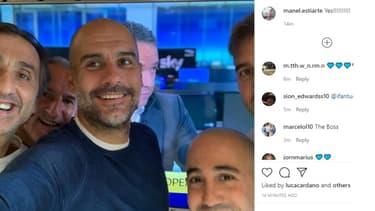 Le selfie de Guardiola