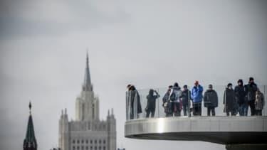 Vue sur le ministère russe des Affaires étrangères et un tour du Kremlin à Moscou, le 17 mars 2018