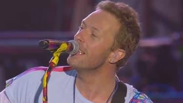Coldplay, lors du concert à Manchester, le 4 juin 2017