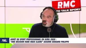 """""""Une décision rude mais claire"""", Edouard Philippe assume l'arrêt du sport pro en avril 2020"""