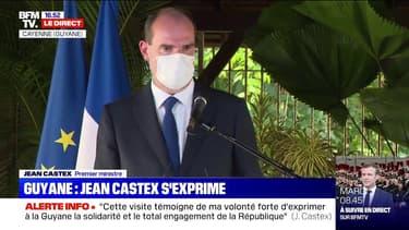 """Jean Castex en Guyane: """"Je constate avec satisfaction que la République n'a pas ménagé ses moyens"""" pour faire face à la crise"""