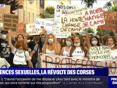 """""""IwasCorsica"""": près de 500 personnes manifestent contre les violences sexuelles à Ajaccio"""