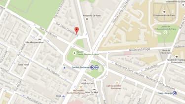 Le crâne et les ossements ont été découvert rue Victor Considérant, dans le XIVe arrondissement de Paris