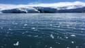 Des blocs de glace détachés d'un glacier en Islande