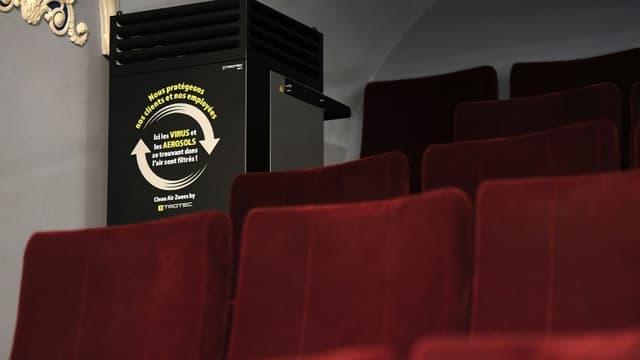 Purificateur d'air installé au théâtre de l'odyssée à Strasbourg, le 11 mai 2021