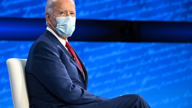 L'ancien vice-président démocrate Joe Biden, candidat à la présidentielle américaine, participe à un town hall sur ABC, le 15 octobre 2020 à Philadelphie, en Pennsylvanie
